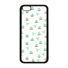 Cactus Pattern Apple Iphone 5c Seamless Case (black) by ValentinaDesign