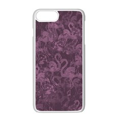 Flamingo Pattern Apple Iphone 7 Plus White Seamless Case by ValentinaDesign