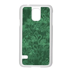 Flamingo Pattern Samsung Galaxy S5 Case (white) by ValentinaDesign
