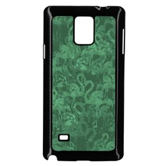 Flamingo Pattern Samsung Galaxy Note 4 Case (black) by ValentinaDesign