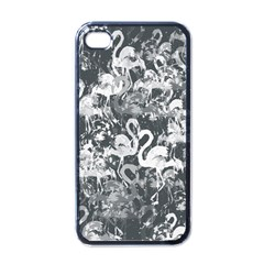 Flamingo Pattern Apple Iphone 4 Case (black) by ValentinaDesign