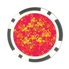 Flamingo Pattern Poker Chip Card Guard (10 Pack) by ValentinaDesign