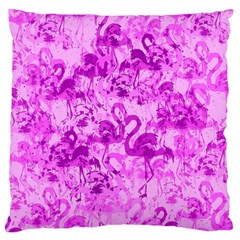 Flamingo Pattern Large Cushion Case (two Sides) by ValentinaDesign
