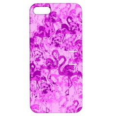 Flamingo Pattern Apple Iphone 5 Hardshell Case With Stand by ValentinaDesign