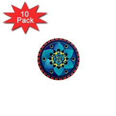 Abstract Mechanical Object 1  Mini Magnet (10 Pack)