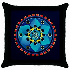 Abstract Mechanical Object Throw Pillow Case (black)