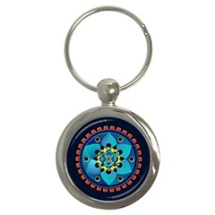 Abstract Mechanical Object Key Chains (round)