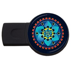 Abstract Mechanical Object Usb Flash Drive Round (2 Gb) by linceazul