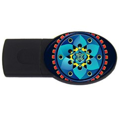 Abstract Mechanical Object Usb Flash Drive Oval (2 Gb)