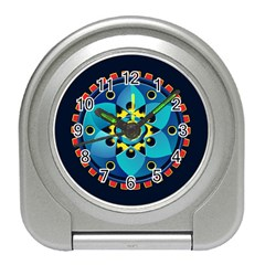 Abstract Mechanical Object Travel Alarm Clocks