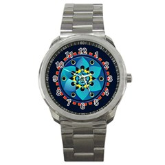Abstract Mechanical Object Sport Metal Watch by linceazul