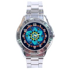 Abstract Mechanical Object Stainless Steel Analogue Watch