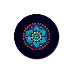 Abstract Mechanical Object Rubber Round Coaster (4 Pack)
