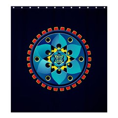 Abstract Mechanical Object Shower Curtain 66  X 72  (large)