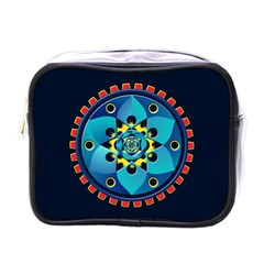 Abstract Mechanical Object Mini Toiletries Bags