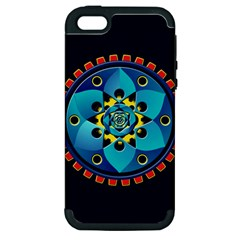Abstract Mechanical Object Apple Iphone 5 Hardshell Case (pc+silicone)