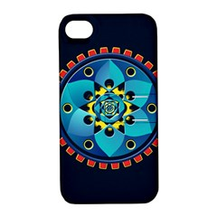 Abstract Mechanical Object Apple Iphone 4/4s Hardshell Case With Stand
