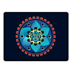 Abstract Mechanical Object Double Sided Fleece Blanket (small)