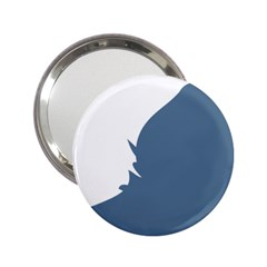 Blue White Hill 2 25  Handbag Mirrors by Mariart