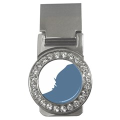 Blue White Hill Money Clips (cz)  by Mariart
