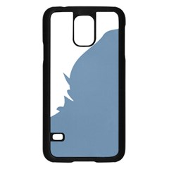 Blue White Hill Samsung Galaxy S5 Case (black) by Mariart