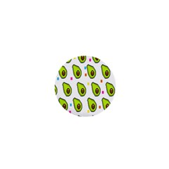 Avocado Seeds Green Fruit Plaid 1  Mini Buttons