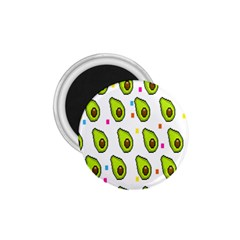 Avocado Seeds Green Fruit Plaid 1 75  Magnets by Mariart