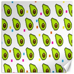 Avocado Seeds Green Fruit Plaid Canvas 12  X 12   by Mariart