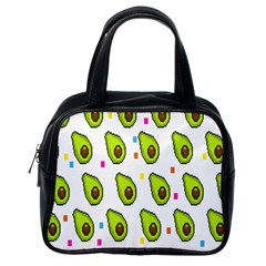 Avocado Seeds Green Fruit Plaid Classic Handbags (one Side) by Mariart