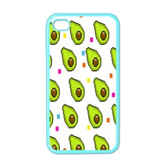 Avocado Seeds Green Fruit Plaid Apple Iphone 4 Case (color)