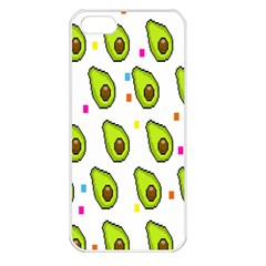 Avocado Seeds Green Fruit Plaid Apple Iphone 5 Seamless Case (white) by Mariart