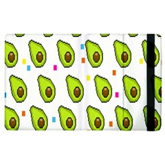 Avocado Seeds Green Fruit Plaid Apple Ipad 2 Flip Case by Mariart