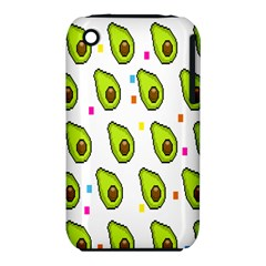 Avocado Seeds Green Fruit Plaid Iphone 3s/3gs by Mariart