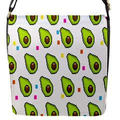 Avocado Seeds Green Fruit Plaid Flap Messenger Bag (s) by Mariart