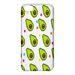 Avocado Seeds Green Fruit Plaid Apple Iphone 5c Hardshell Case by Mariart