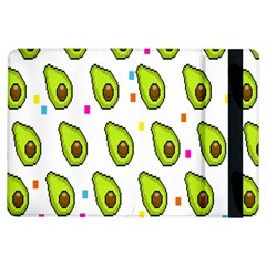 Avocado Seeds Green Fruit Plaid Ipad Air Flip by Mariart