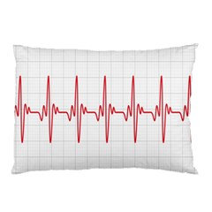 Cardiogram Vary Heart Rate Perform Line Red Plaid Wave Waves Chevron Pillow Case