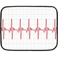 Cardiogram Vary Heart Rate Perform Line Red Plaid Wave Waves Chevron Fleece Blanket (mini) by Mariart