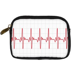 Cardiogram Vary Heart Rate Perform Line Red Plaid Wave Waves Chevron Digital Camera Cases by Mariart