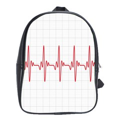 Cardiogram Vary Heart Rate Perform Line Red Plaid Wave Waves Chevron School Bags(large)
