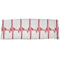 Cardiogram Vary Heart Rate Perform Line Red Plaid Wave Waves Chevron Body Pillow Case Dakimakura (two Sides) by Mariart