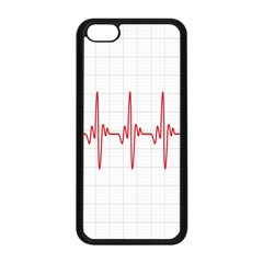 Cardiogram Vary Heart Rate Perform Line Red Plaid Wave Waves Chevron Apple Iphone 5c Seamless Case (black) by Mariart