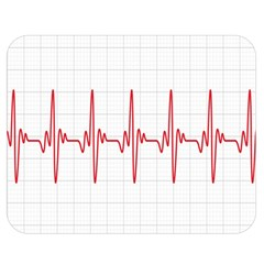 Cardiogram Vary Heart Rate Perform Line Red Plaid Wave Waves Chevron Double Sided Flano Blanket (medium)  by Mariart
