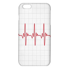 Cardiogram Vary Heart Rate Perform Line Red Plaid Wave Waves Chevron Iphone 6 Plus/6s Plus Tpu Case by Mariart