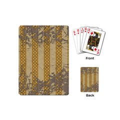 Wall Paper Old Line Vertical Playing Cards (mini)  by Mariart