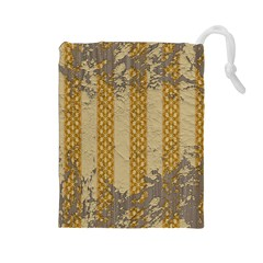 Wall Paper Old Line Vertical Drawstring Pouches (large)  by Mariart