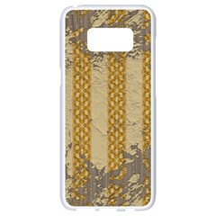 Wall Paper Old Line Vertical Samsung Galaxy S8 White Seamless Case by Mariart