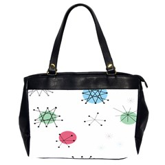 Atomic Starbursts Circle Line Polka Office Handbags (2 Sides)  by Mariart