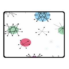 Atomic Starbursts Circle Line Polka Fleece Blanket (small) by Mariart