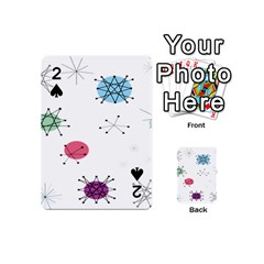 Atomic Starbursts Circle Line Polka Playing Cards 54 (mini)  by Mariart